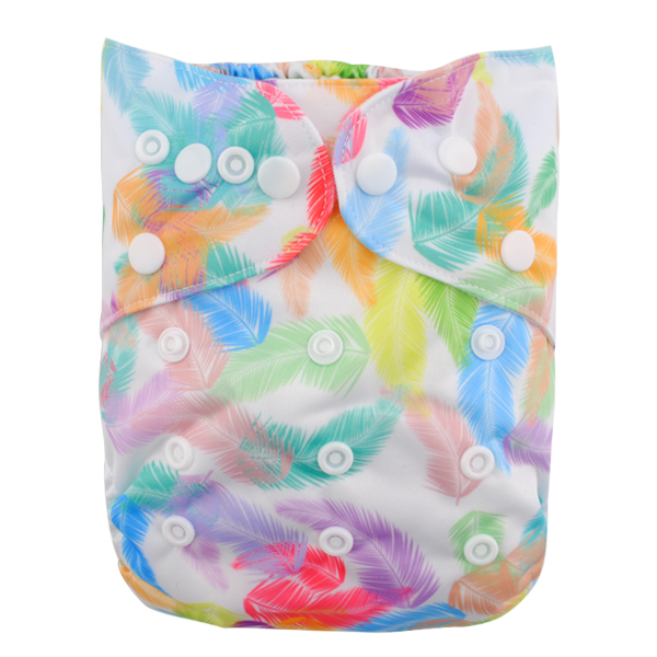 LBB(TM) Baby Resuable Washable Pocket Cloth Diaper,Feather